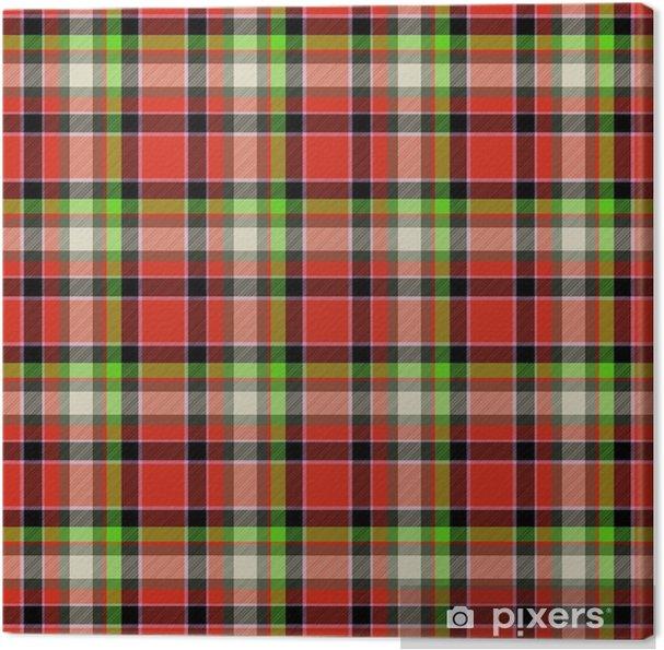 Obraz na płótnie Czerwony i zielony tartan szwu wzornictwo - Zasoby graficzne