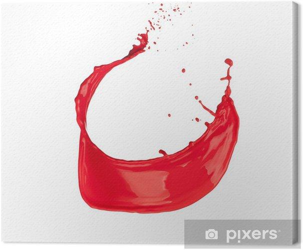 Obraz na płótnie Czerwony powitalny - Abstrakcja