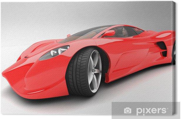Obraz na płótnie Czerwony samochód Prototype - Transport drogowy