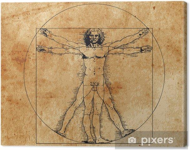 Obraz na płótnie Człowiek witruwiański - Style