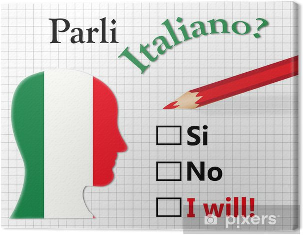 Obraz na płótnie Czy mówisz po włosku? - Zasoby graficzne