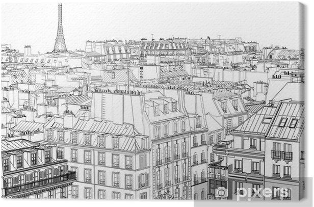 Obraz na płótnie Dachy w Paryżu - Style