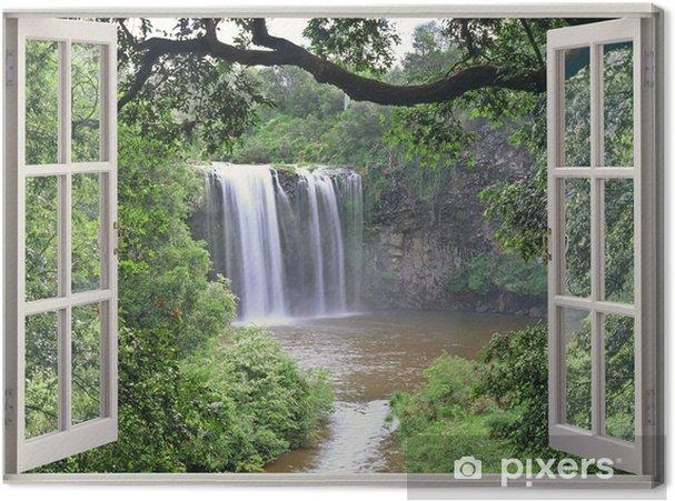 Obraz na płótnie Dangar Falls obejrzeć w otwartym oknie - iStaging
