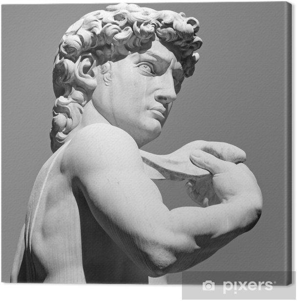 Obraz na płótnie David przez Michelangelo - słynnego włoskiego renesansu rzeźby, - Budynki i architektura