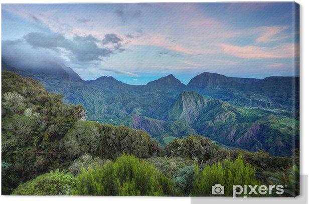 Obraz na płótnie Dawn on Salazie - Reunion - Wakacje