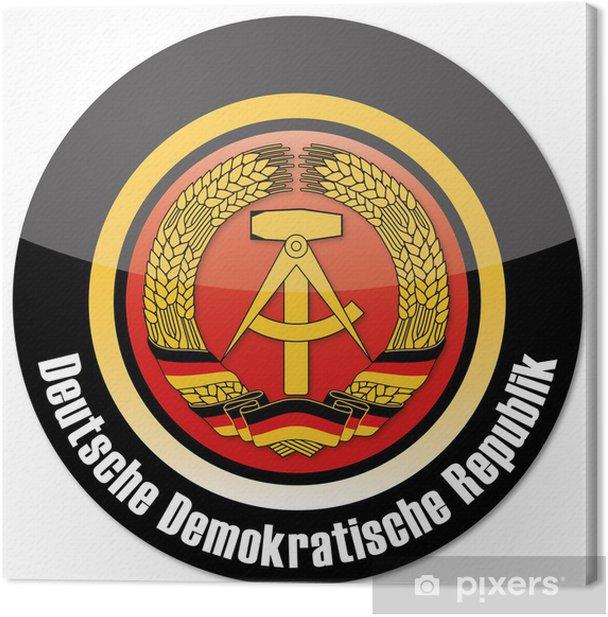Obraz na płótnie DDR Przycisk - Znaki i symbole