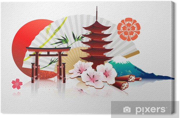 Obraz na płótnie Decorative Traditional Japanese background - Zabytki