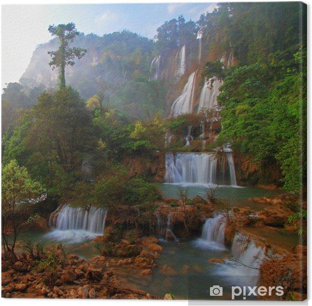 Obraz na płótnie Deep Forest piękny wodospad w Thi Lo Su, Tak, Tajlandia - Woda