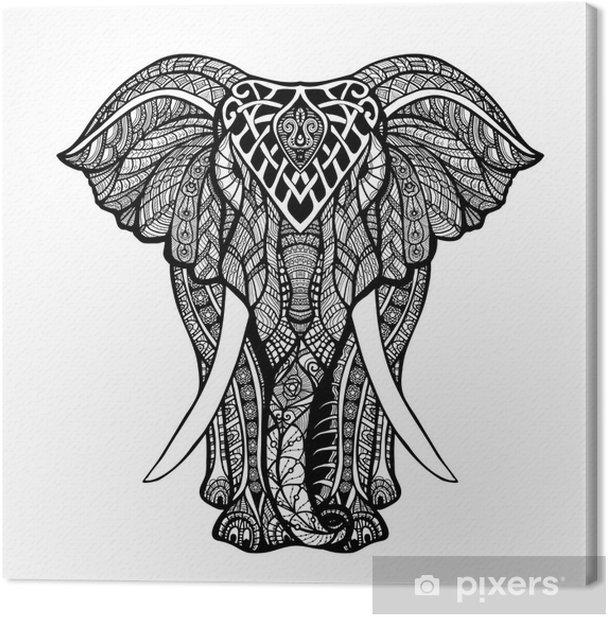 Obraz na płótnie Dekoracyjne Ilustracji Elephant - Ssaki