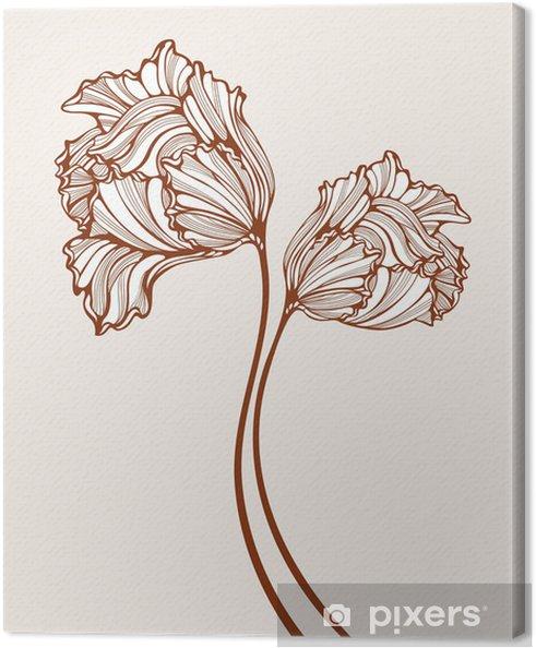 Obraz na płótnie Dekoracyjne tulipany - Kwiaty