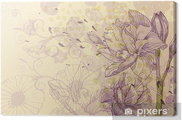 Obraz na płótnie Delikatne tło wektor z kwitnących kwiatów - Pory roku