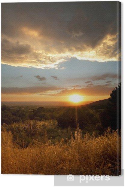 Obraz na płótnie Desert Miejski: Stormy Sunset - Pustynie
