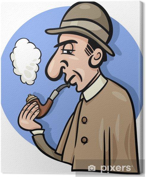 Obraz na płótnie Detektyw z kreskówki ilustracji rur - Inne