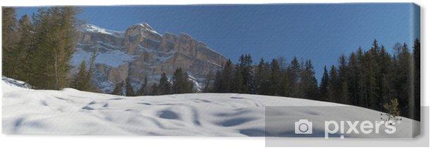 Obraz na płótnie Dolomity ogromna panorama w czasie śnieżnej zimy - Góry