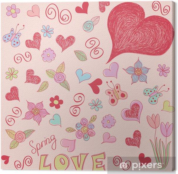 Obraz na płótnie Doodles wiosna - Święta międzynarodowe