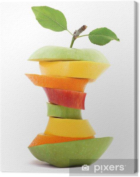 Obraz na płótnie Dopasuj Owoce - Owoce