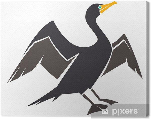 Obraz na płótnie Double kormoran czubaty - Ptaki