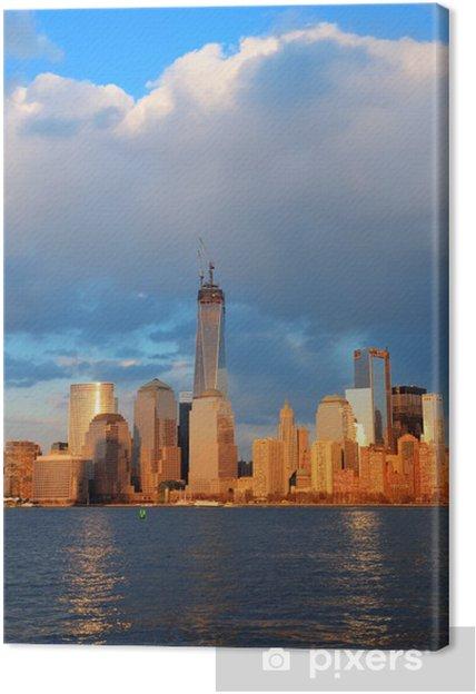 Obraz na płótnie Downtown Manhattan skyline - Zabytki