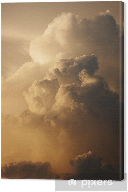 Obraz na płótnie Dramatyczna Giant Chmura o zachodzie słońca - Niebo