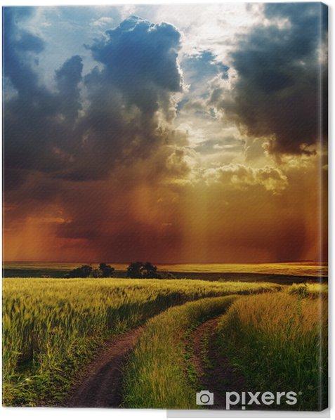 Obraz na płótnie Dramatyczne niebo nad drogą - Tematy