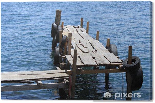 Obraz na płótnie Drewniana stacja dokująca na jeziorze - Ameryka