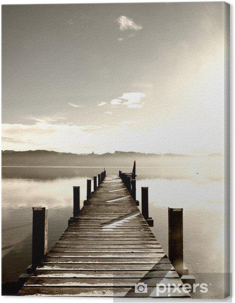 Obraz na płótnie Drewniane molo (78) - Tematy