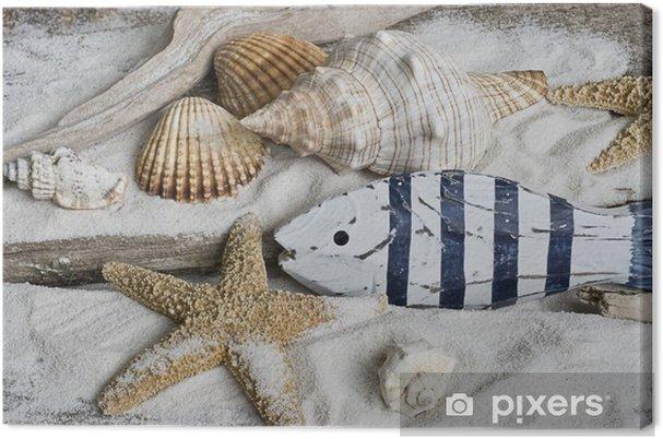 Obraz na płótnie Drewniane ryby - Wakacje