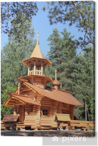 Obraz na płótnie Drewniany kościół w Rosji - Budynki użyteczności publicznej