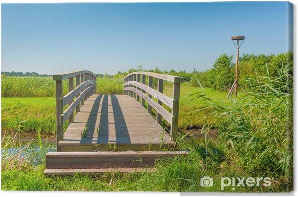 Obraz na płótnie Drewniany most i cień - Pory roku