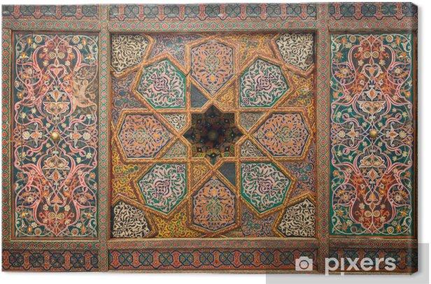 Obraz na płótnie Drewniany sufit, orientalne ozdoby z Khiva, Uzbekistan - Bliski Wschód