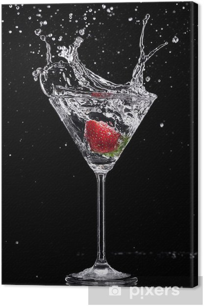 Obraz na płótnie Drink Martini rozpryskiwania szkła na czarnym tle - Tematy