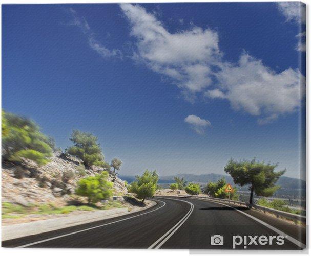 Obraz na płótnie Droga asfaltowa. nieostry ruchu - Tematy