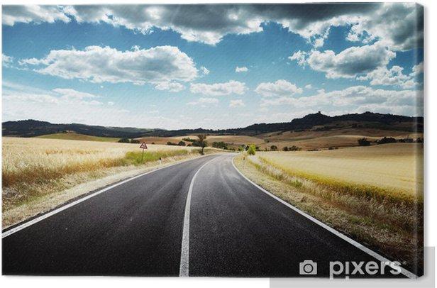 Obraz na płótnie Droga asfaltowa w Toskanii we Włoszech - Tematy