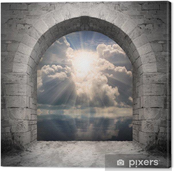 Obraz na płótnie Droga do nowego świata. Nowa koncepcja życia - światło nad wodą. - Budynki użyteczności publicznej