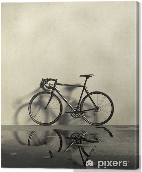 Obraz na płótnie Droga wyścigi rowerów w grungy, mokro i brudu miejscu - Rowery