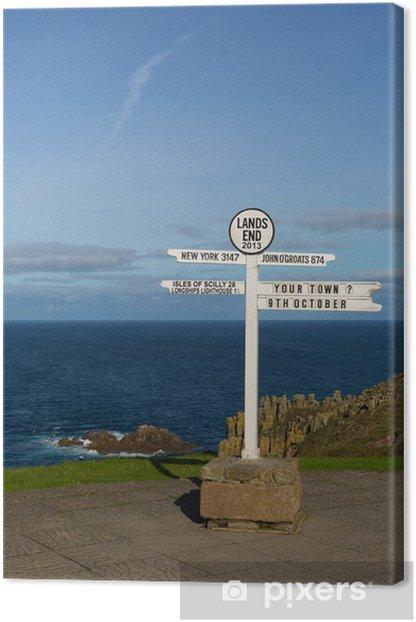Obraz na płótnie Drogowskaz Lands End Cornwall Anglia UK - Europa
