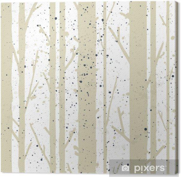 Obraz na płótnie Drzewa wzór - Rośliny i kwiaty