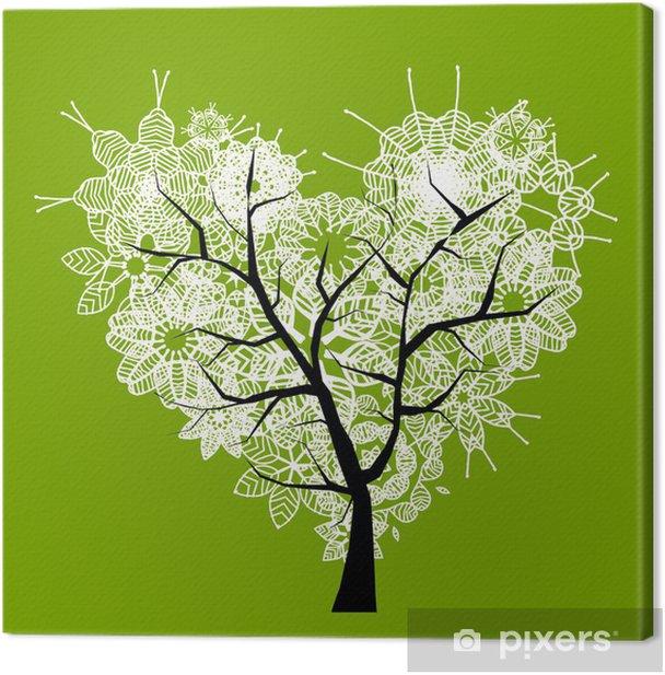 Obraz na płótnie Drzewo kształt Art serce dla projektu - Pory roku