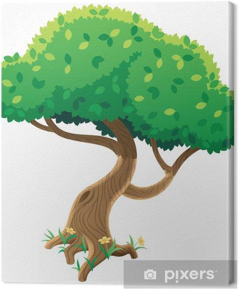 Obraz na płótnie Drzewo na białym tle - Drzewa
