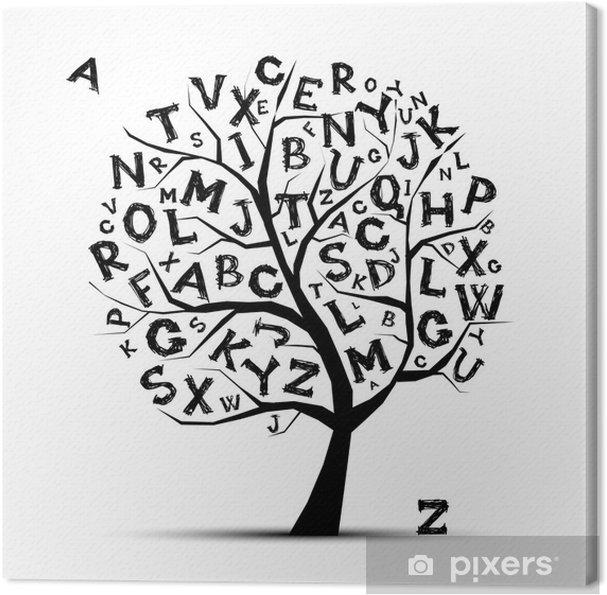 Obraz na płótnie Drzewo sztuki z liter alfabetu dla projektu - Tematy