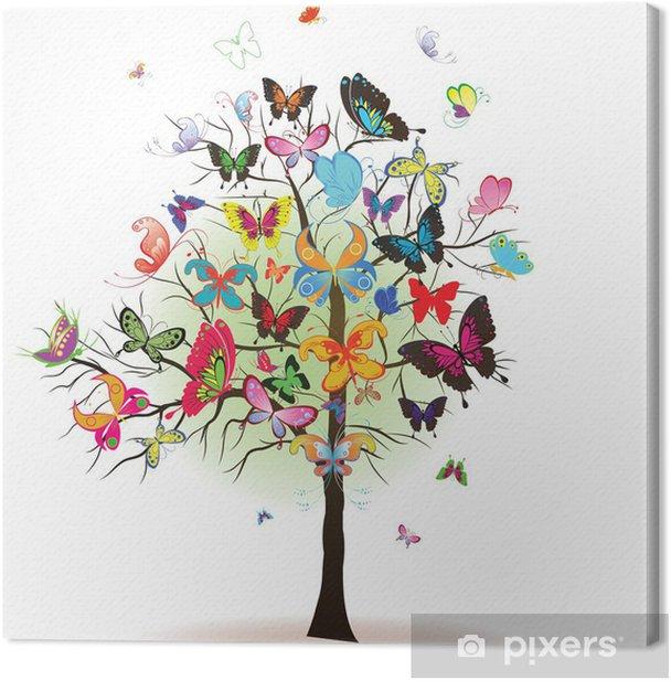 Obraz na płótnie Drzewo z motyla, element projektu, ilustracji wektorowych - Pory roku