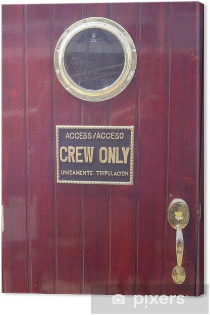 Obraz na płótnie Drzwi na statku - Transport wodny