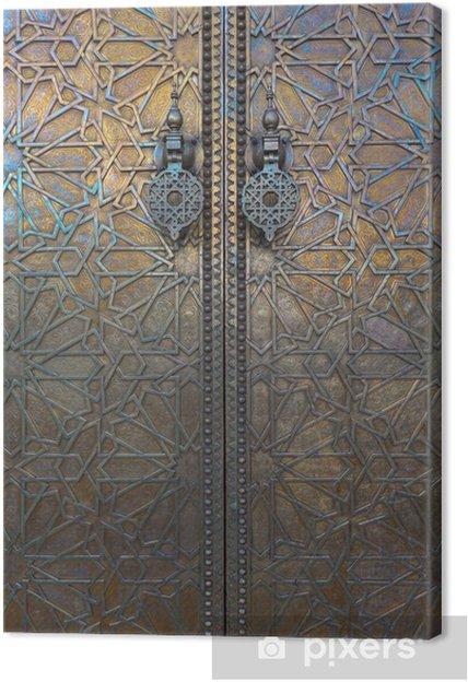 Obraz na płótnie Drzwi w Dar El Makhzen, Maroko - Maroko