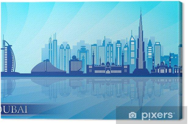 Obraz na płótnie Dubai panoramę miasta szczegółowa sylwetka - Bliski Wschód