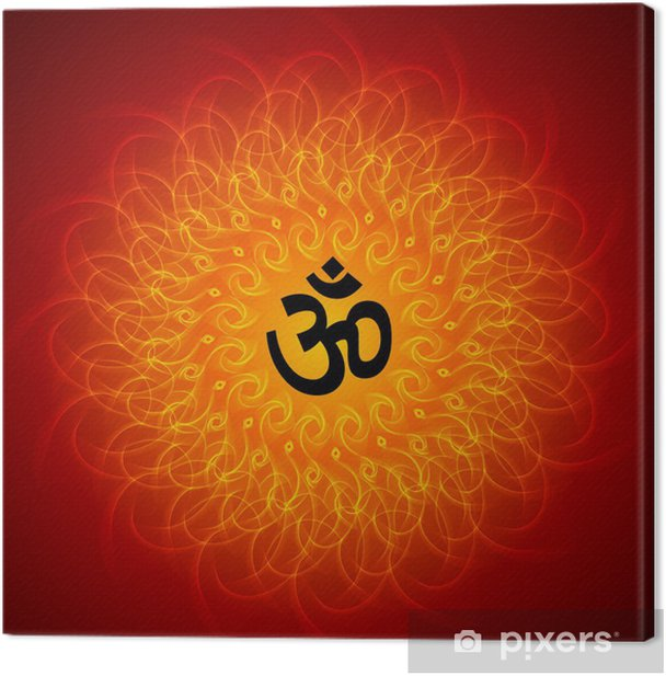 Obraz na płótnie Duchowe Om Mandala Na Tle - Tła