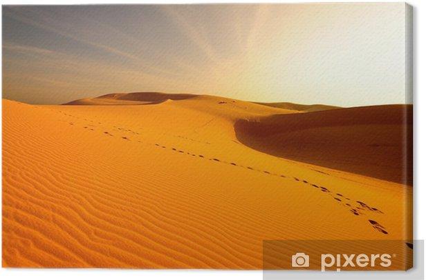 Obraz na płótnie Dune piasku w pustynnym krajobrazu na wschód słońca - Pustynia