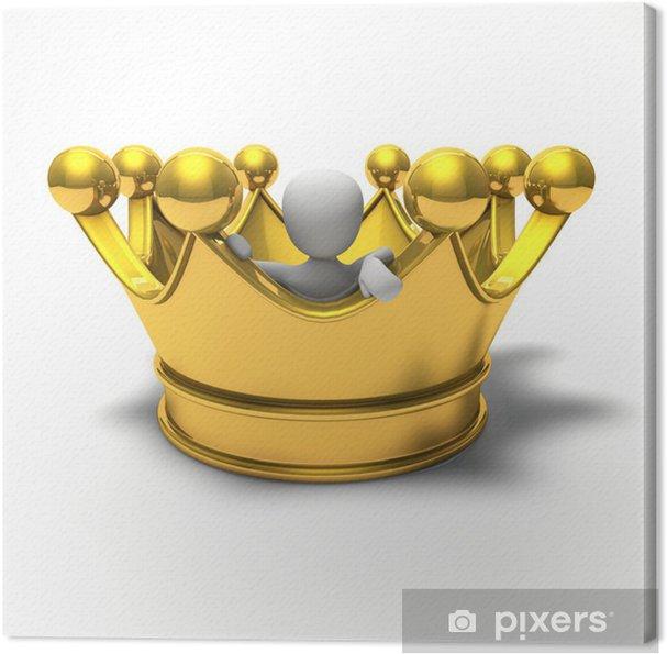 Obraz na płótnie Duży golden crown - Świętowanie