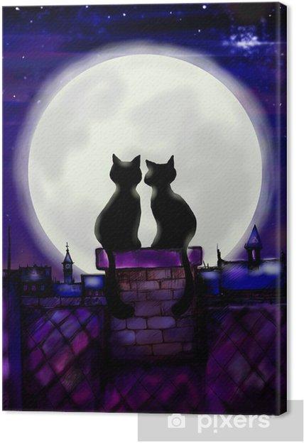 Obraz na płótnie Dwa koty w miłości - Pary