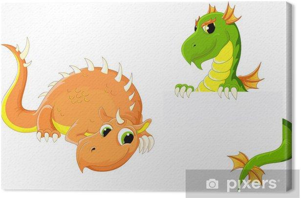 Obraz na płótnie Dwa słodkie smoki - Fikcyjne zwierzęta