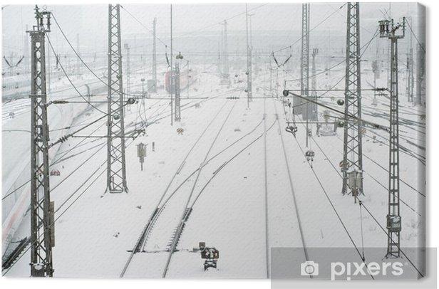 Obraz na płótnie Dworzec kolejowy w Monachium w śniegu - Sytuacje biznesowe